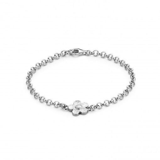 Bliss Flower Bracelet Silver Bracelets