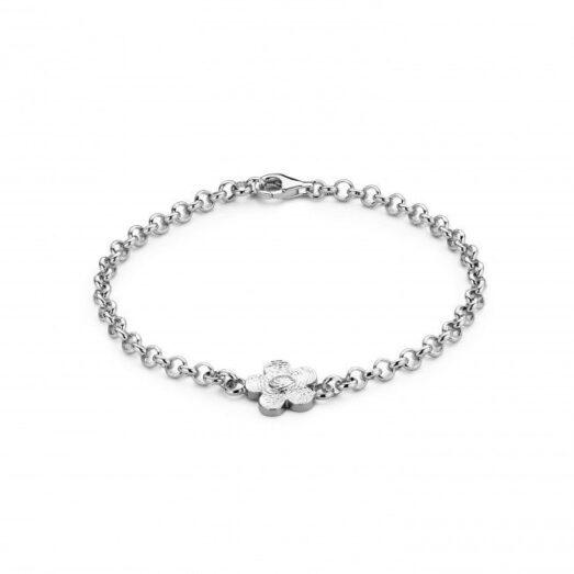 Bliss Flower Bracelet Silver -