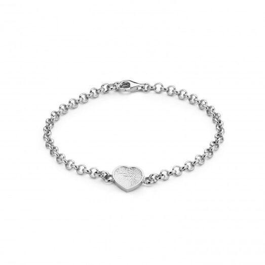 Bliss Heart Bracelet Silver -